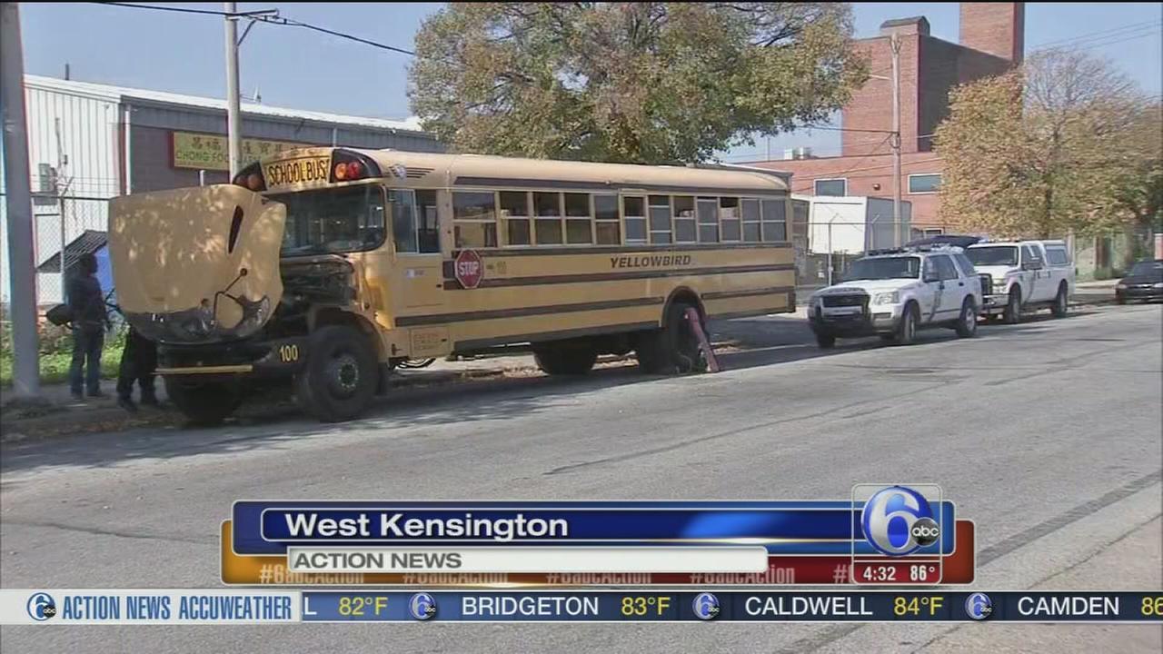 VIDEO: York St school bus crash