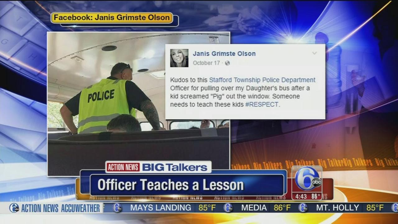 VIDEO: NJ officer teaches lesson to student who called him pig