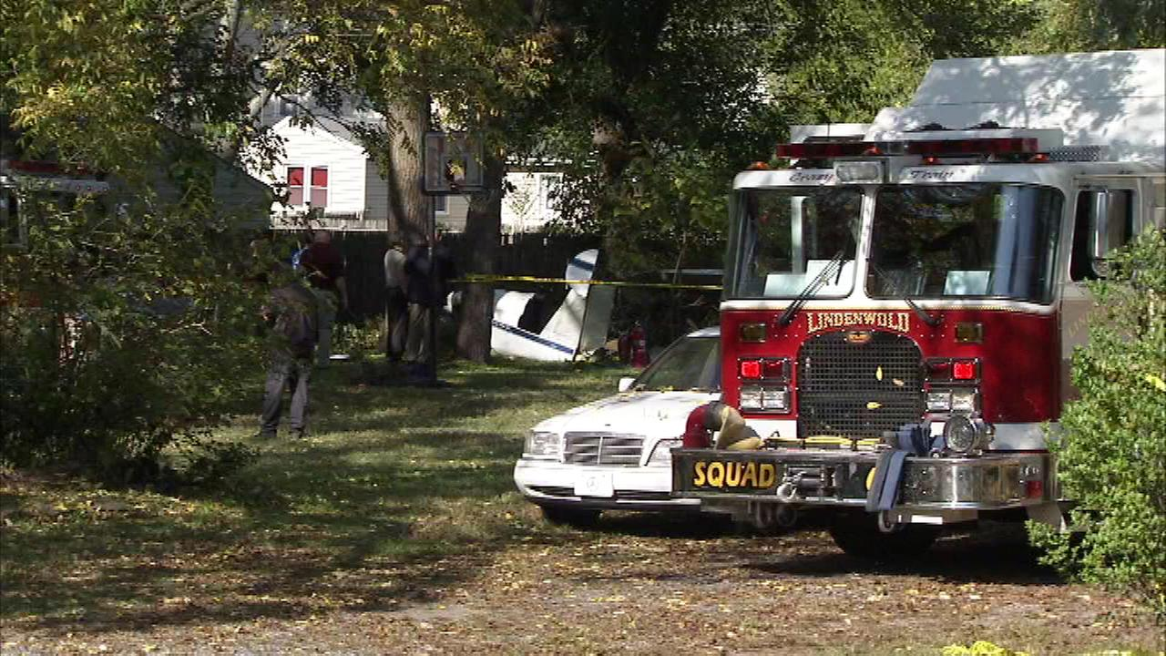 October 19, 2016: The Action Cam was in the 500 block of East Linden Avenue in Lindenwold, N.J. after a small plane went down behind a home.