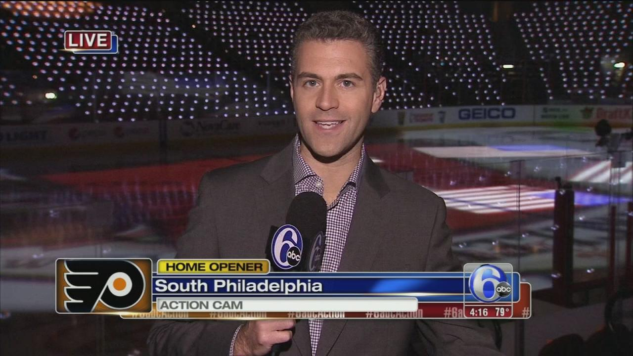 VIDEO: Intense report at Flyers game