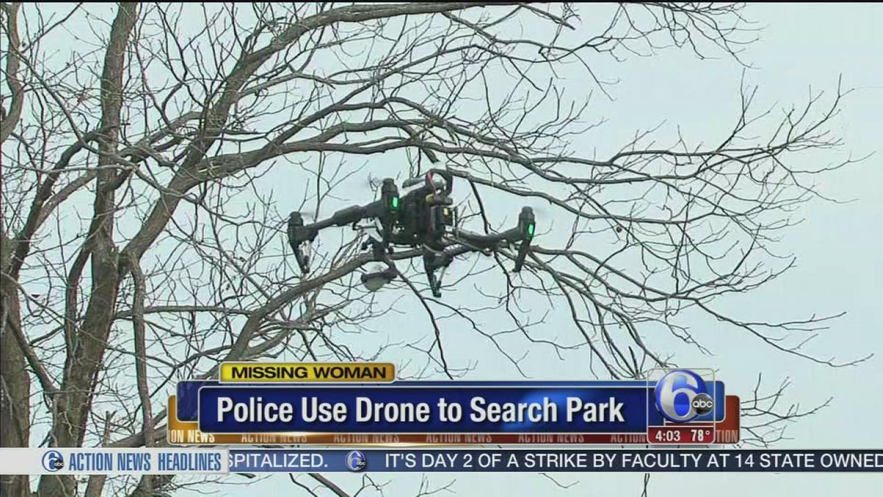 VIDEO: Drone used in search for missing Bucks Co. Woman