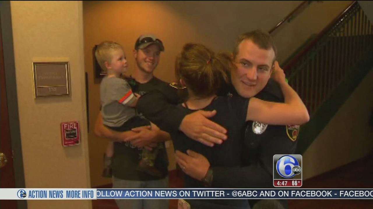 VIDEO: Video captures police officer saving boys life