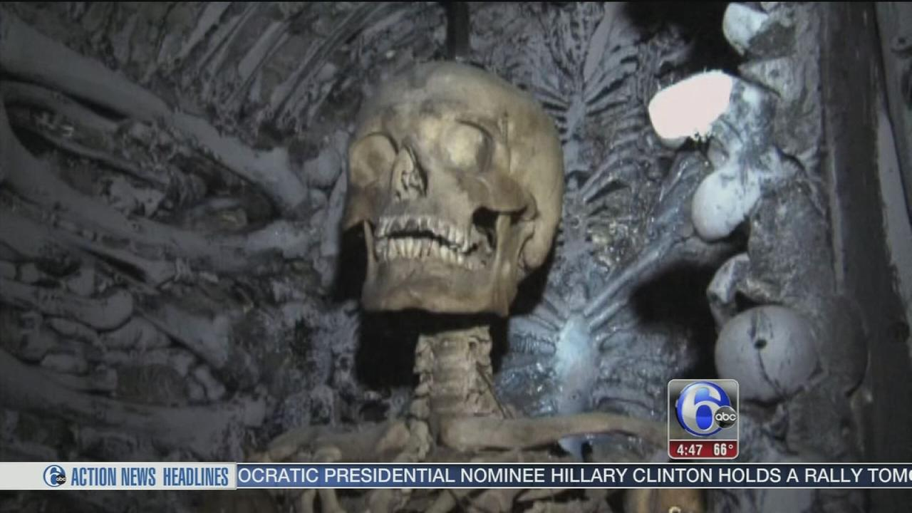 VIDEO: Human bones found in haunted house
