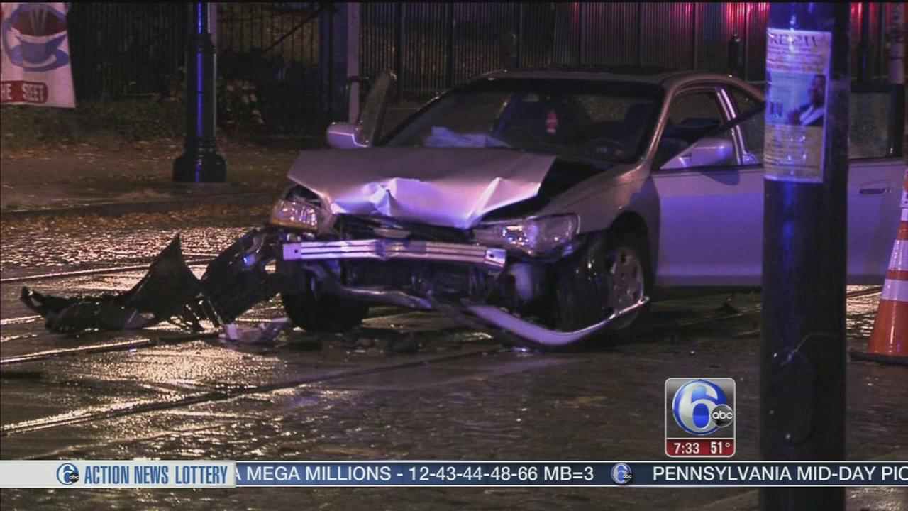 VIDEO: 2 police officers injured in head-on crash in Germantown