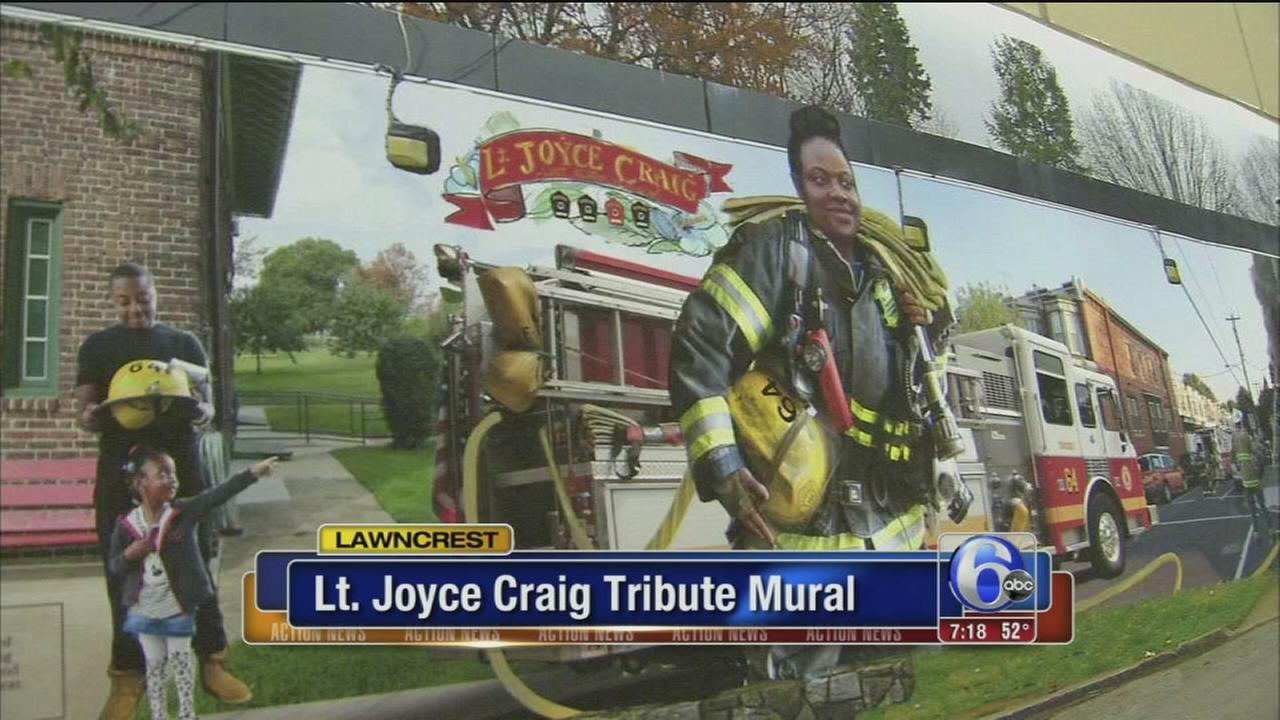 VIDEO: Mural being created to honor Lt. Joyce Craig
