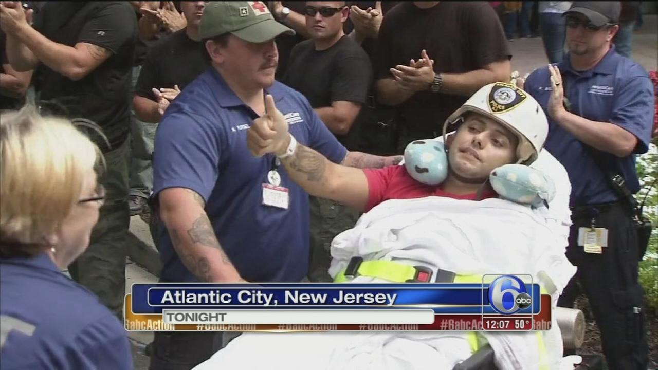 VIDEO: Charity hockey game for injured Atlantic City officer