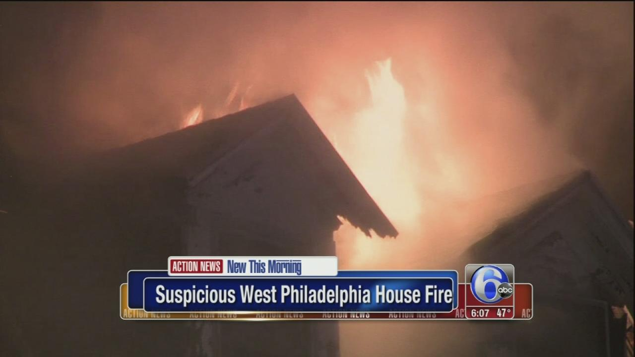 VIDEO: Suspicious fire in West Philadelphia