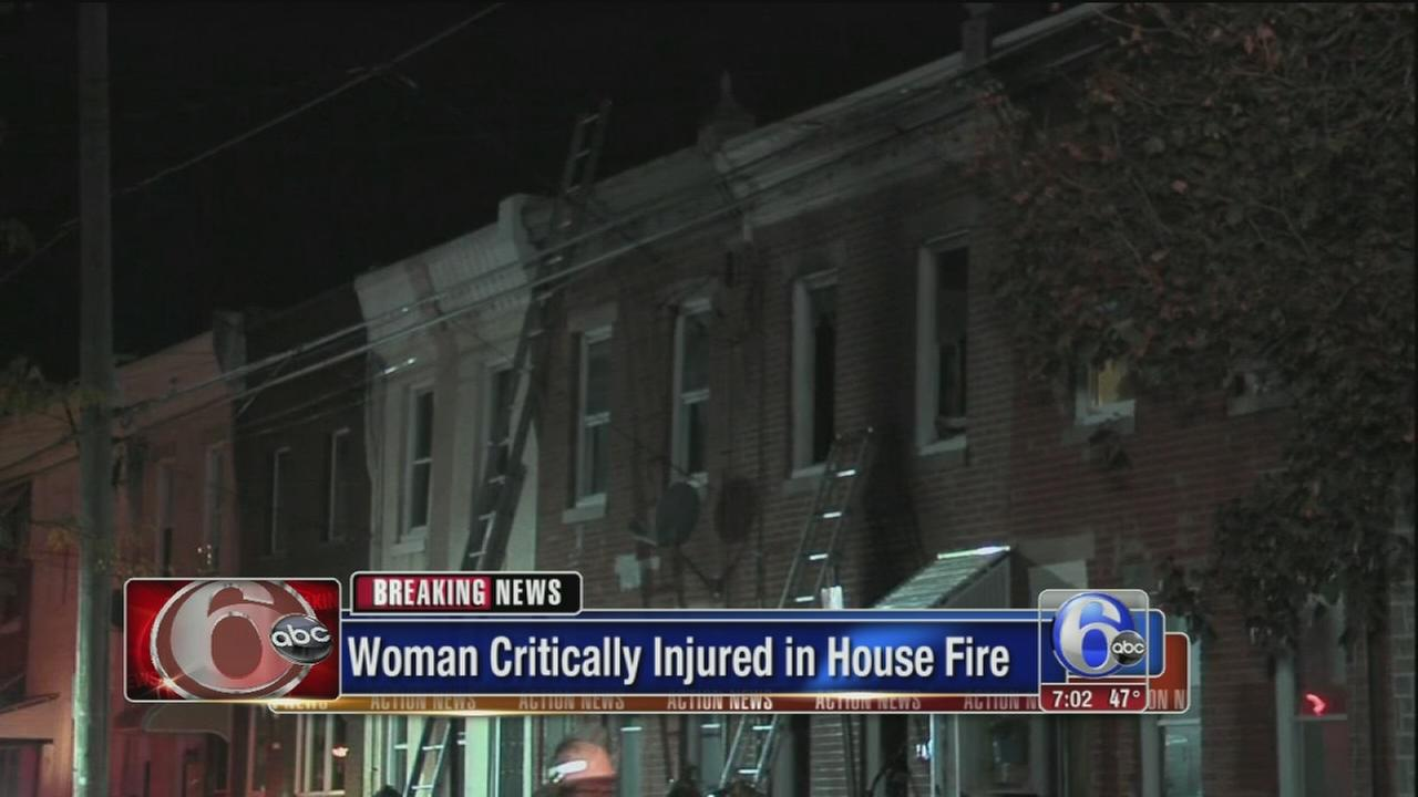 VIDEO: Woman critically injured in house fire