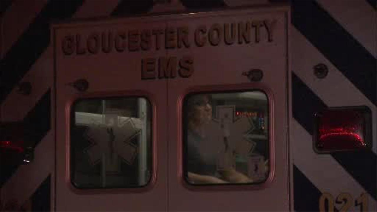 Firefighters had to rescue a man from a muddy marsh in Mantua Township, Gloucester County.