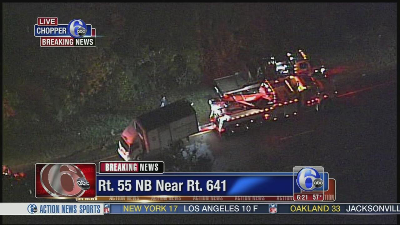 VIDEO: Truck crash on Rt. 55