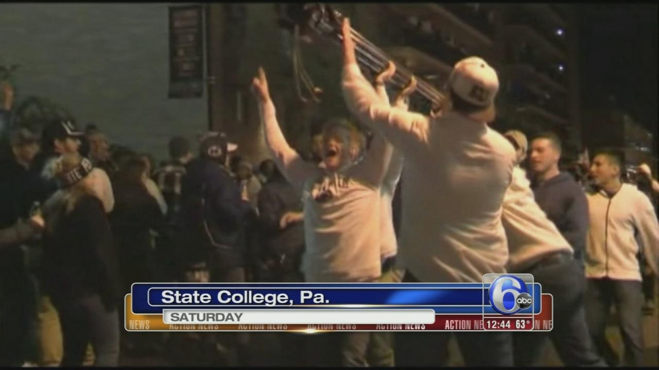 VIDEO: Fans cause damage at Penn State