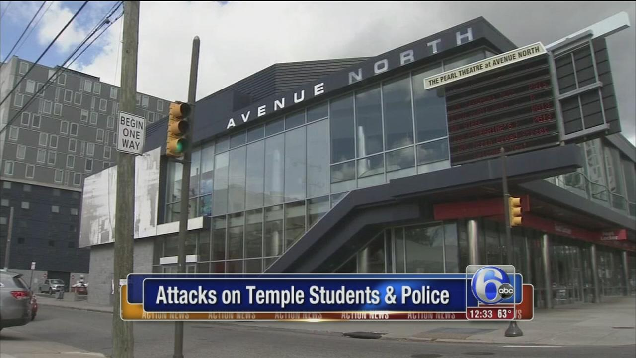 VIDEO: Large crowd attacks pedestrians, officers, horse near Temple