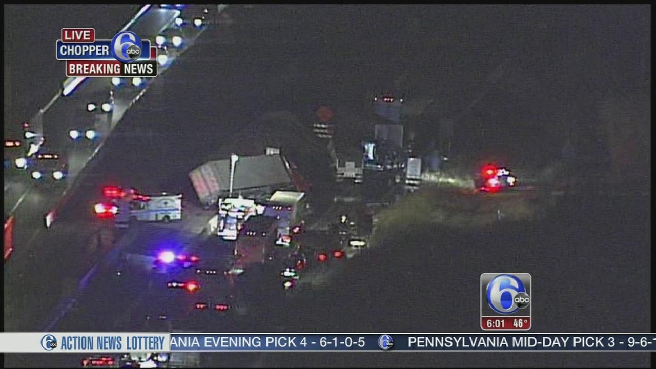 VIDEO: NE Extension NB closed after crash in Towamencin