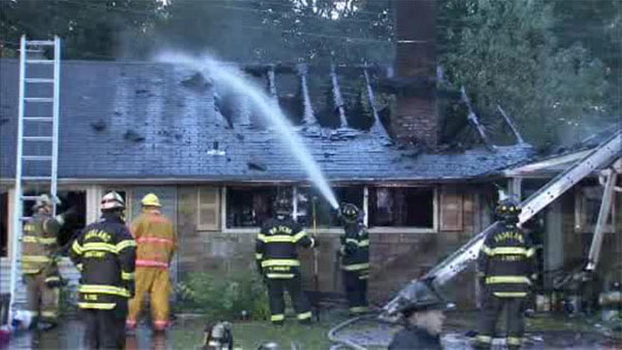 Flames engulf Levittown family's home