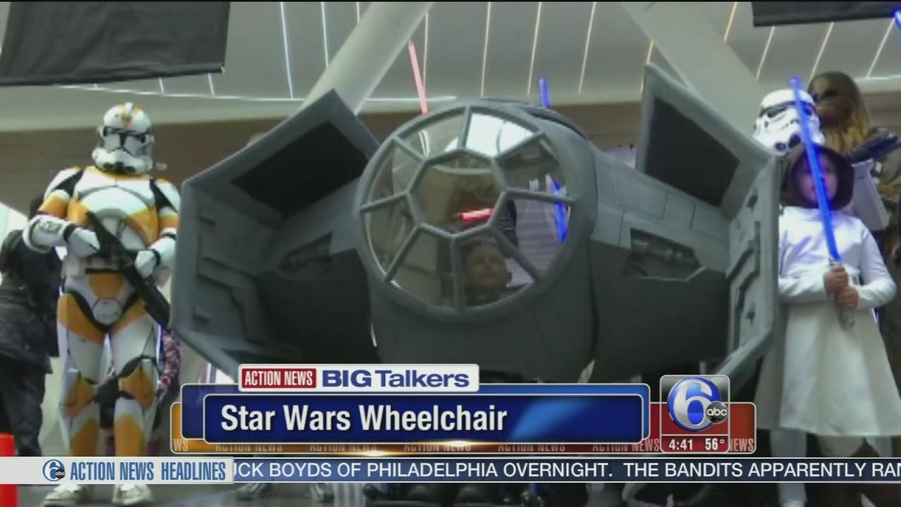 VIDEO: Non-profit creates epic Star Wars wheelchair costume for boy battling cancer