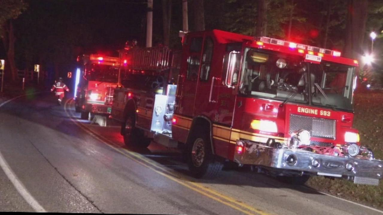 PICTURES: Coroner called to house blaze in Chester County