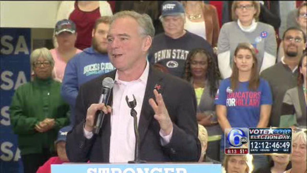 Tim Kaine campaigns in Bucks County, Allentown