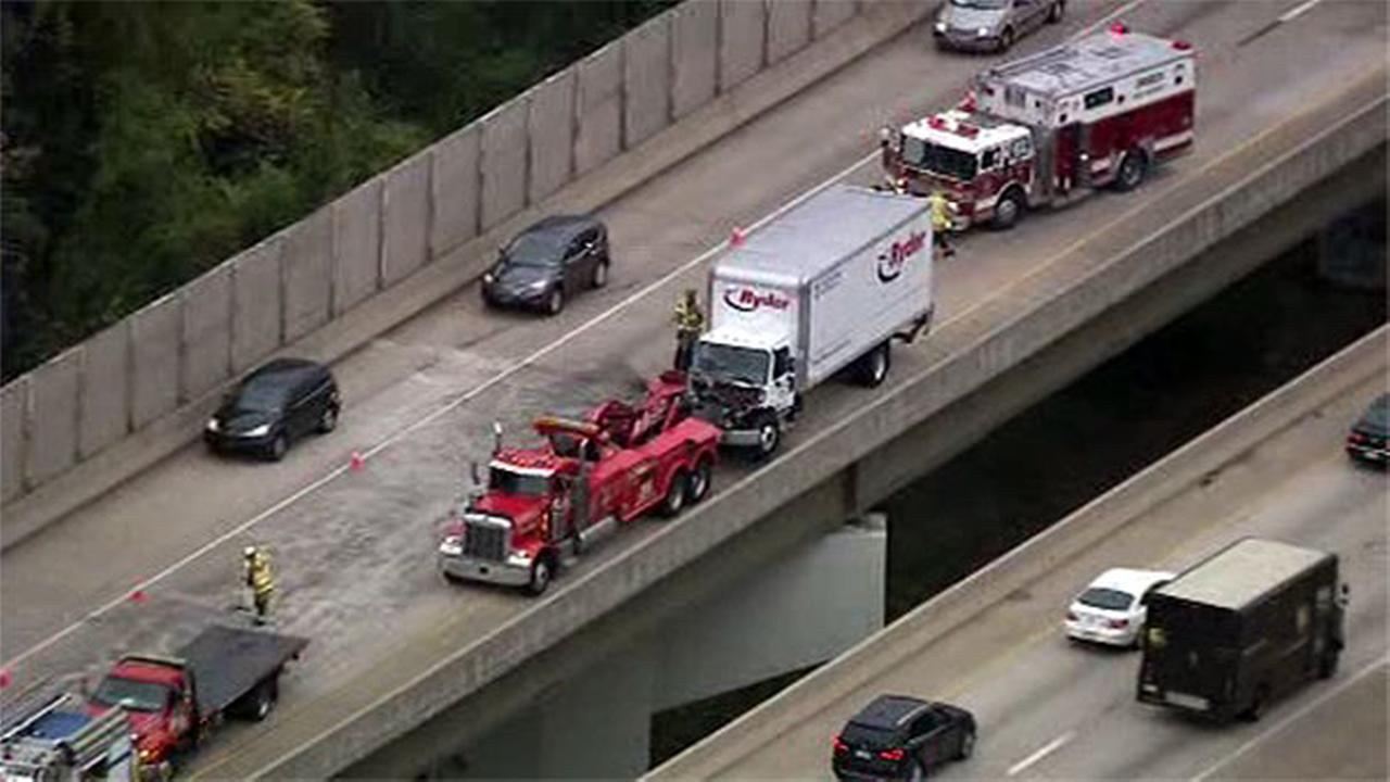 Trucks collide on Blue Route (I-476) in Delaware County