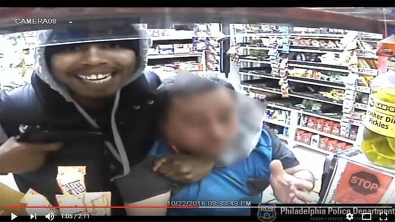Video shows gunman grinning at camera during holdup in West Philly