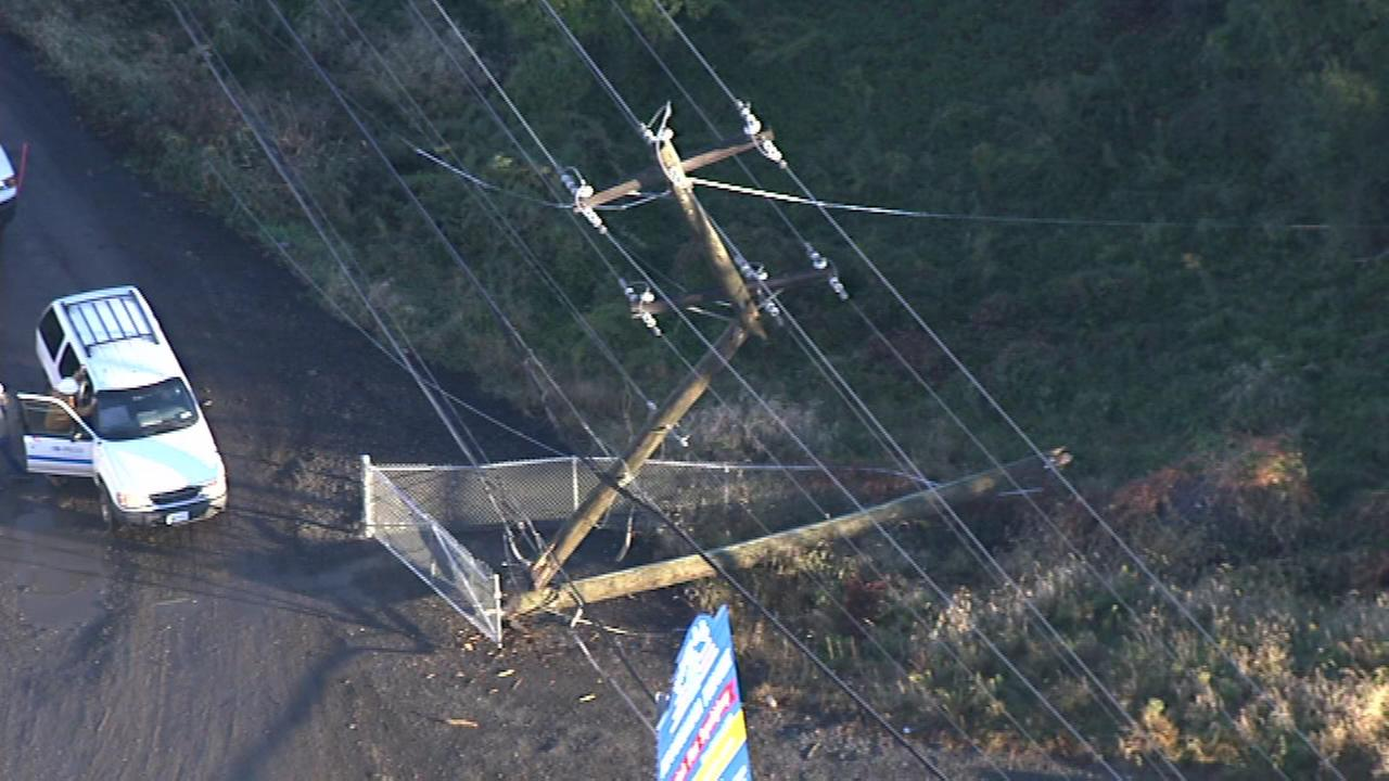October 28, 2016: Downed power lines shut down the Pennsylvania Turnpike in both directions between the Delaware Valley and Bensalem interchanges in Bristol Township.