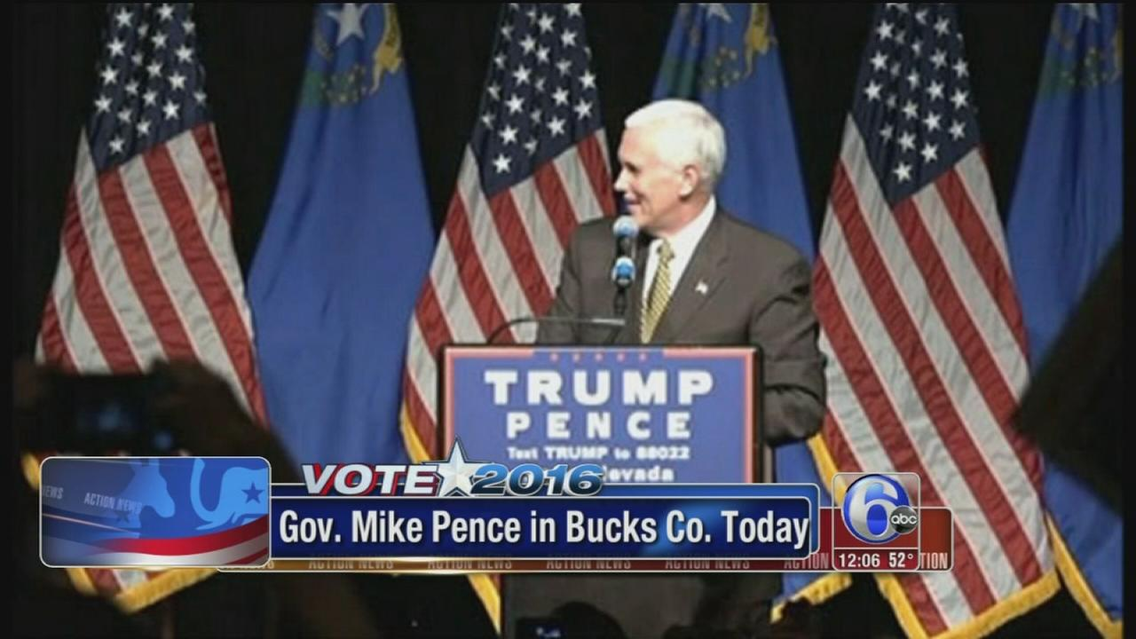 VIDEO: VP candidate Mike Pence in Bucks Co.