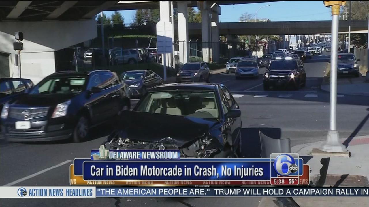 VIDEO: Biden motorcade ax