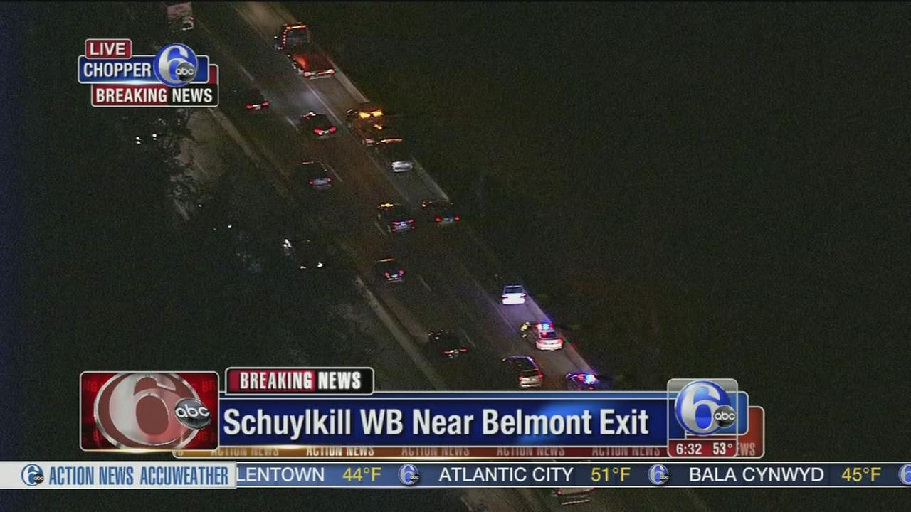 VIDEO: Multi-vehicle crash jams I-76 westbound at Belmont exit