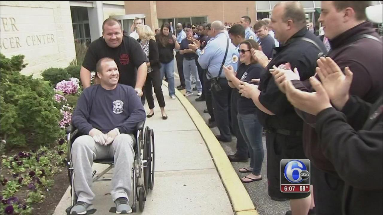 VIDEO: Wilmington firefighter released from hospital after 41 days
