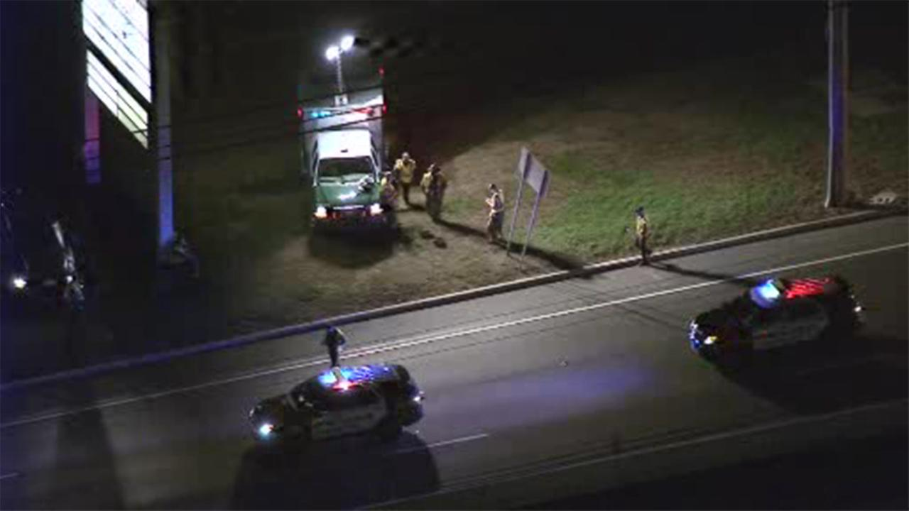 A pedestrian was struck by a vehicle on Route 130 in Burlington County.