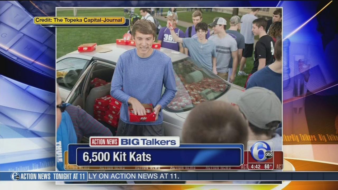 VIDEO: Hersheys gives college student 6,500 candy bars after Kit-Kat theft goes viral