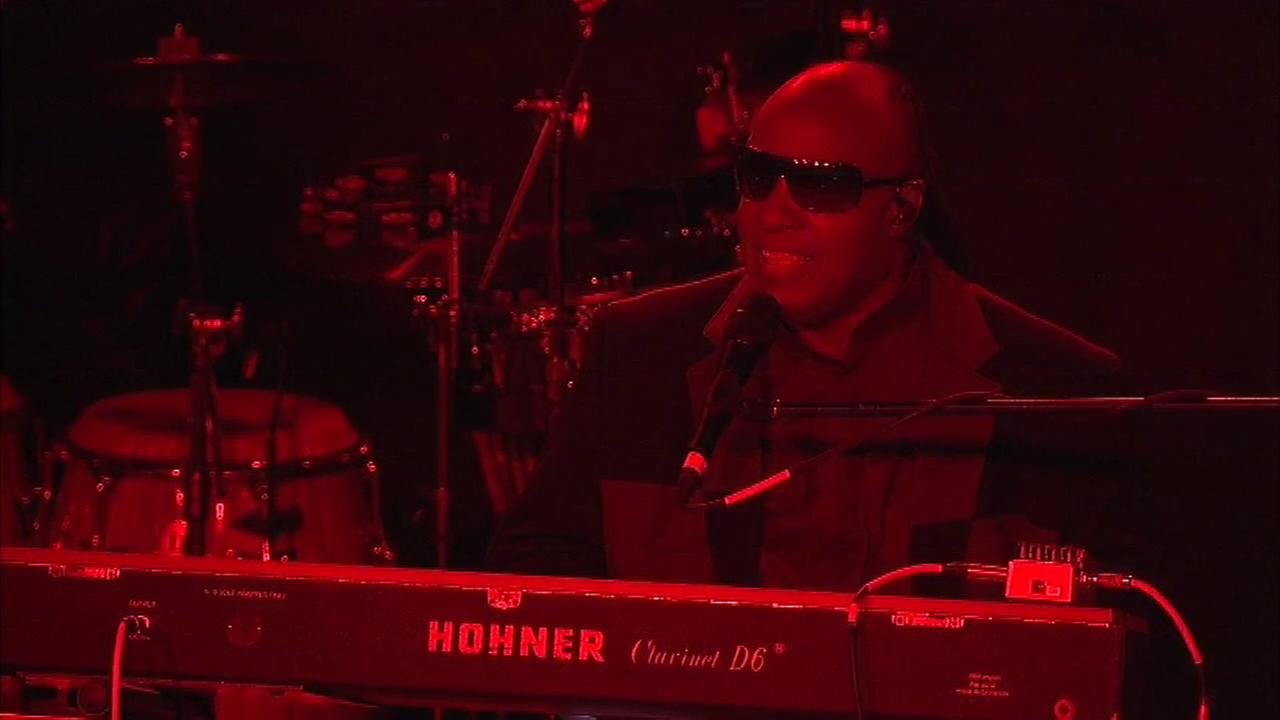 Stevie Wonder performs at Coda in Center City Philadelphia in support of Hillary Clinton.