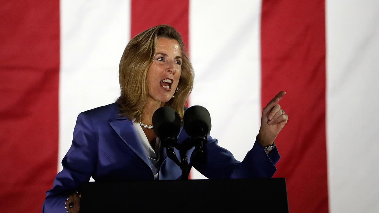 Katie McGinty, Democratic candidate for U.S. Senate in Pennsylvania. speaks during a Hillary Clinton campaign event at Independence Mall on Monday, Nov. 7, 2016 in Philadelphia.