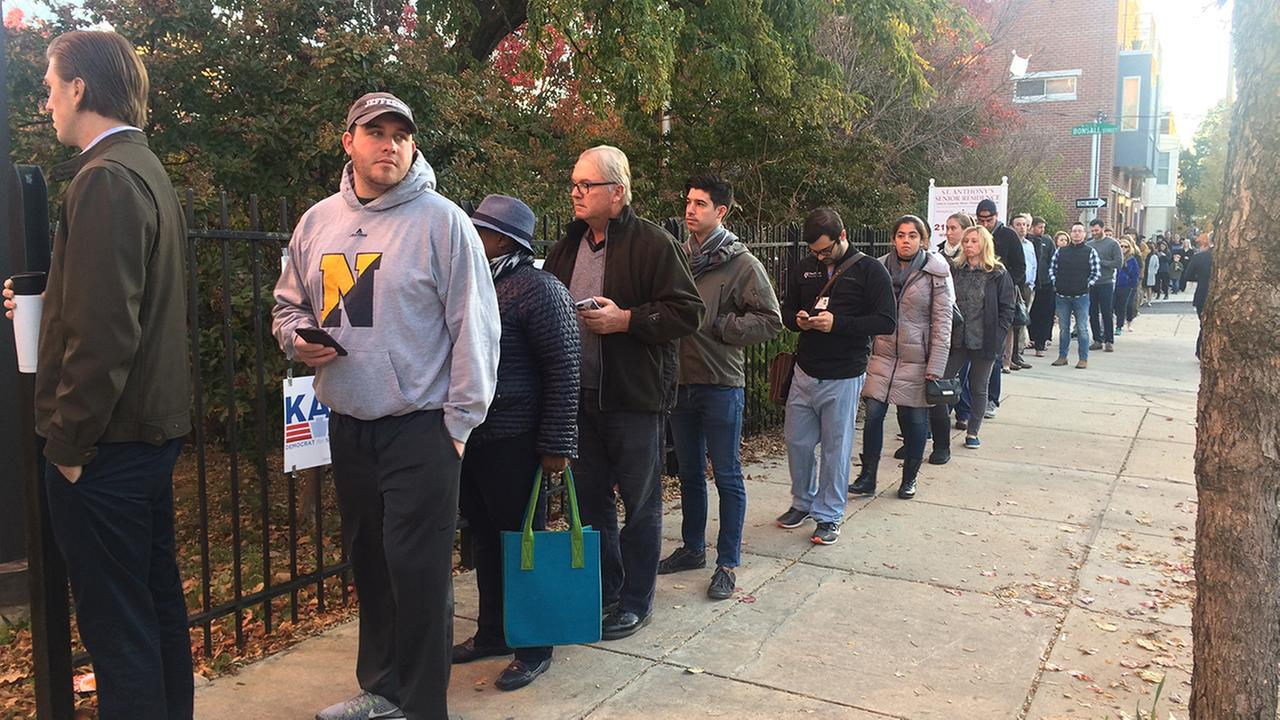 Long lines in Philadelphia.Action News Viewer