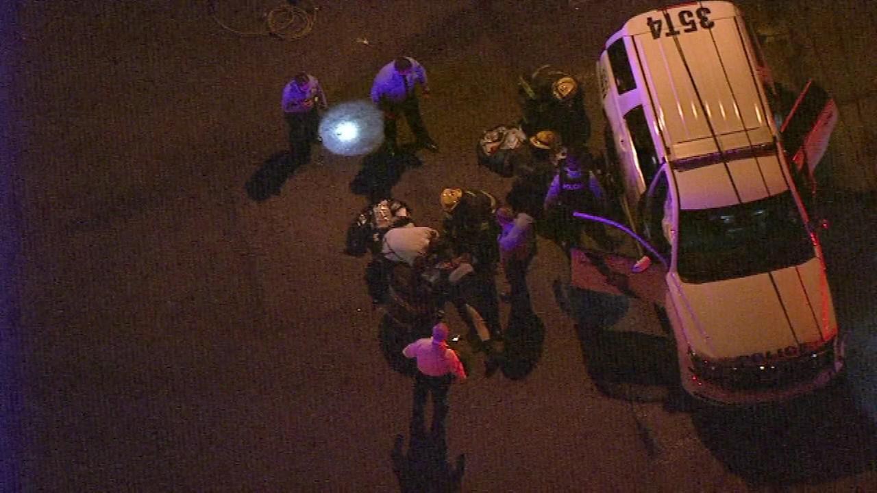 Two Philadelphia police officers injured in Germantown crash.