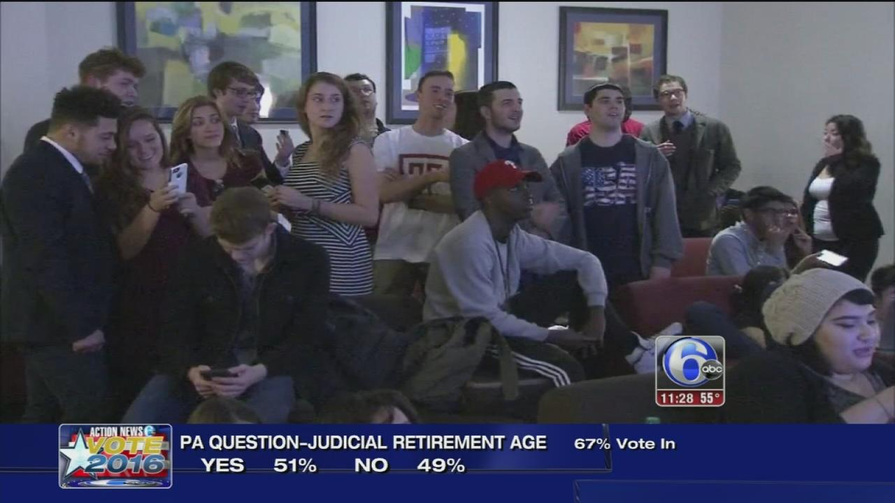 VIDEO: Students hold election watch party