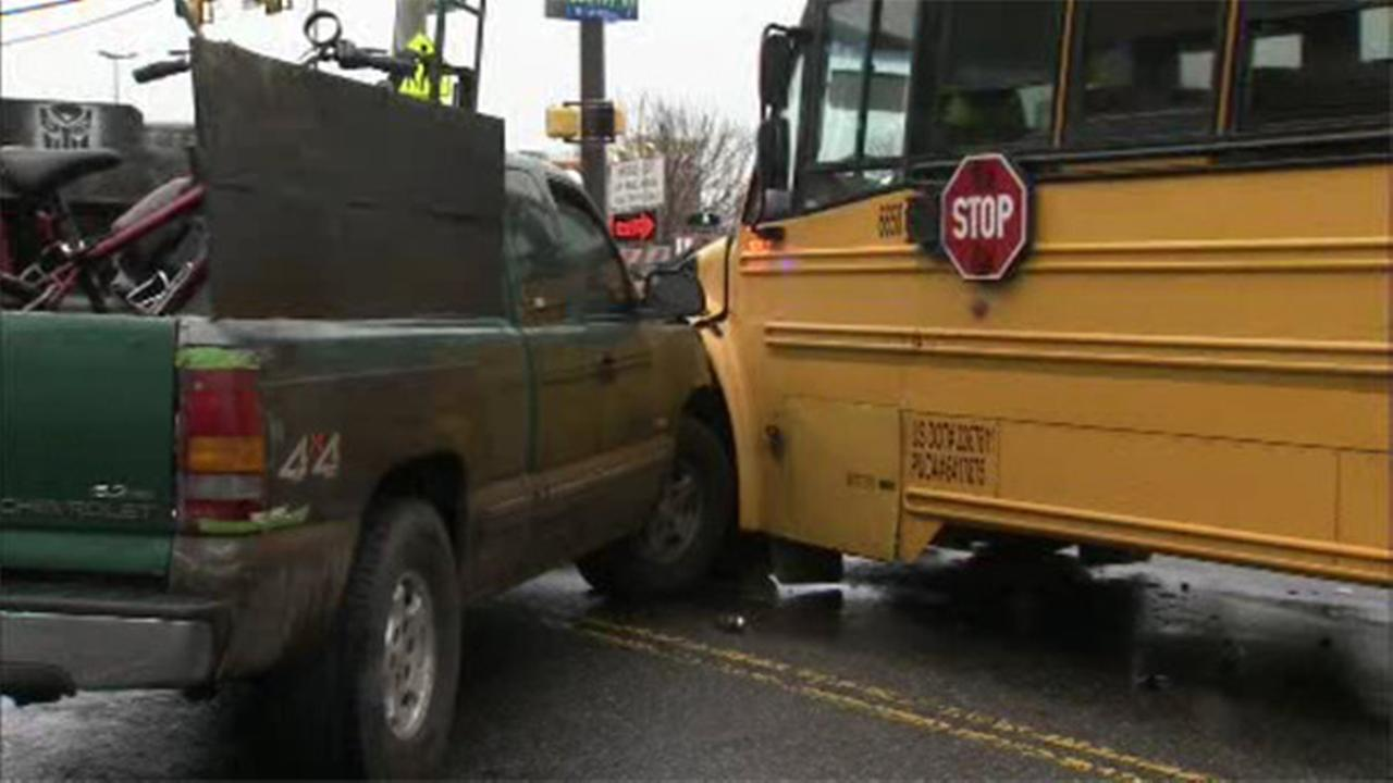 School bus and truck collide in Olney