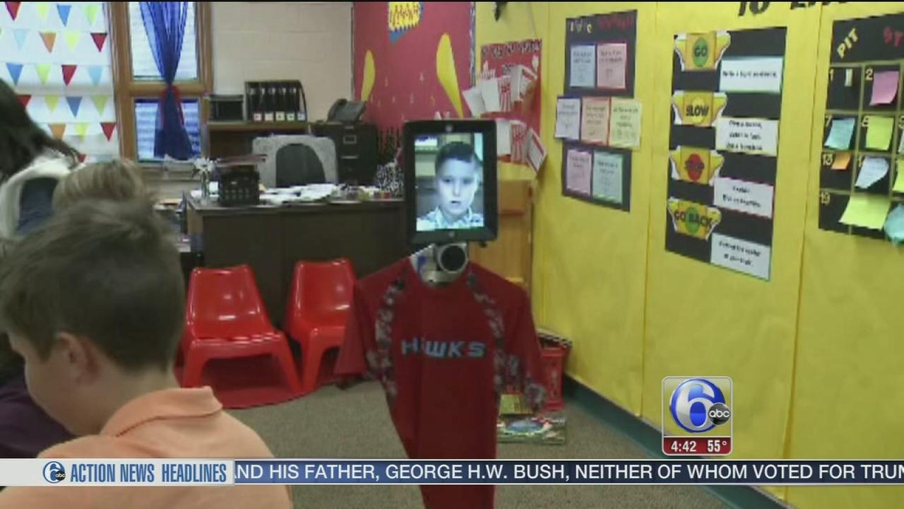 VIDEO: Robot goes to school for sick Wisconsin student