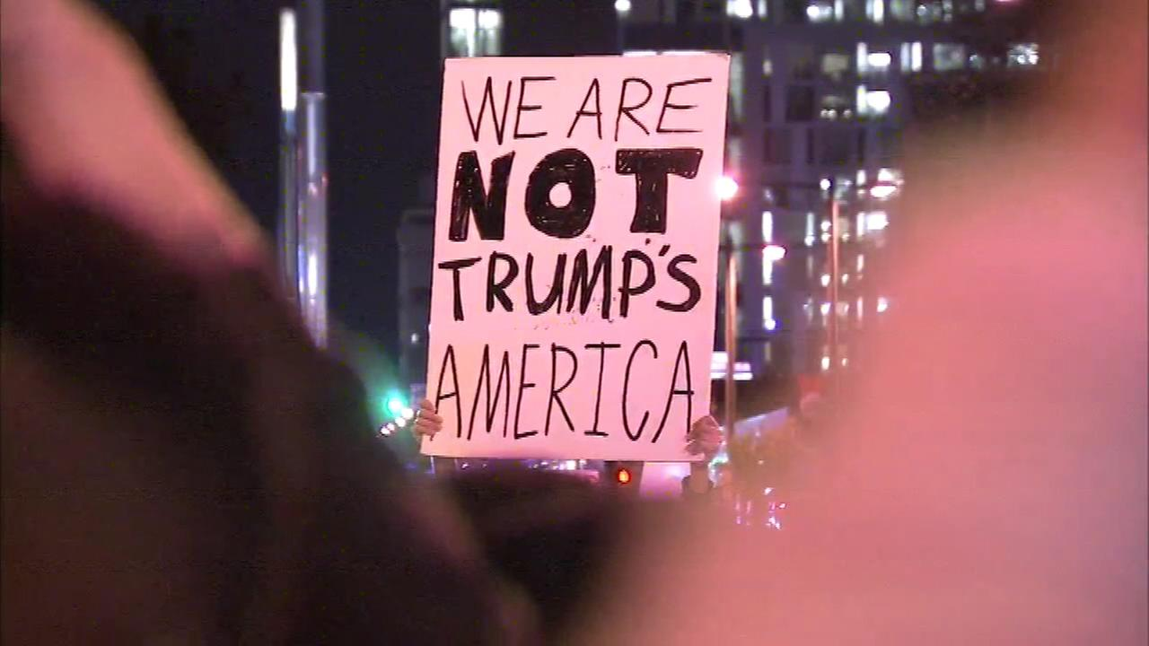 Images of the Anti-Trump protest in Philadelphia.
