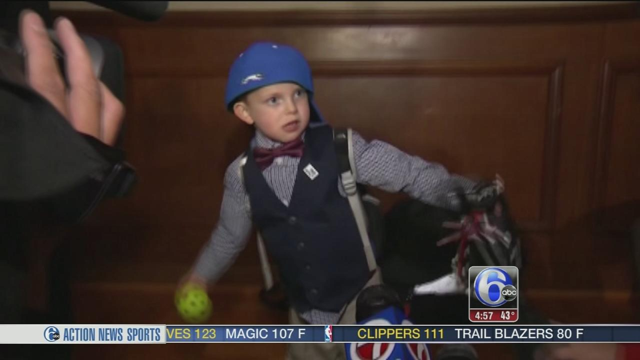 VIDEO: Massachusetts boy, 4, drafted to college baseball team