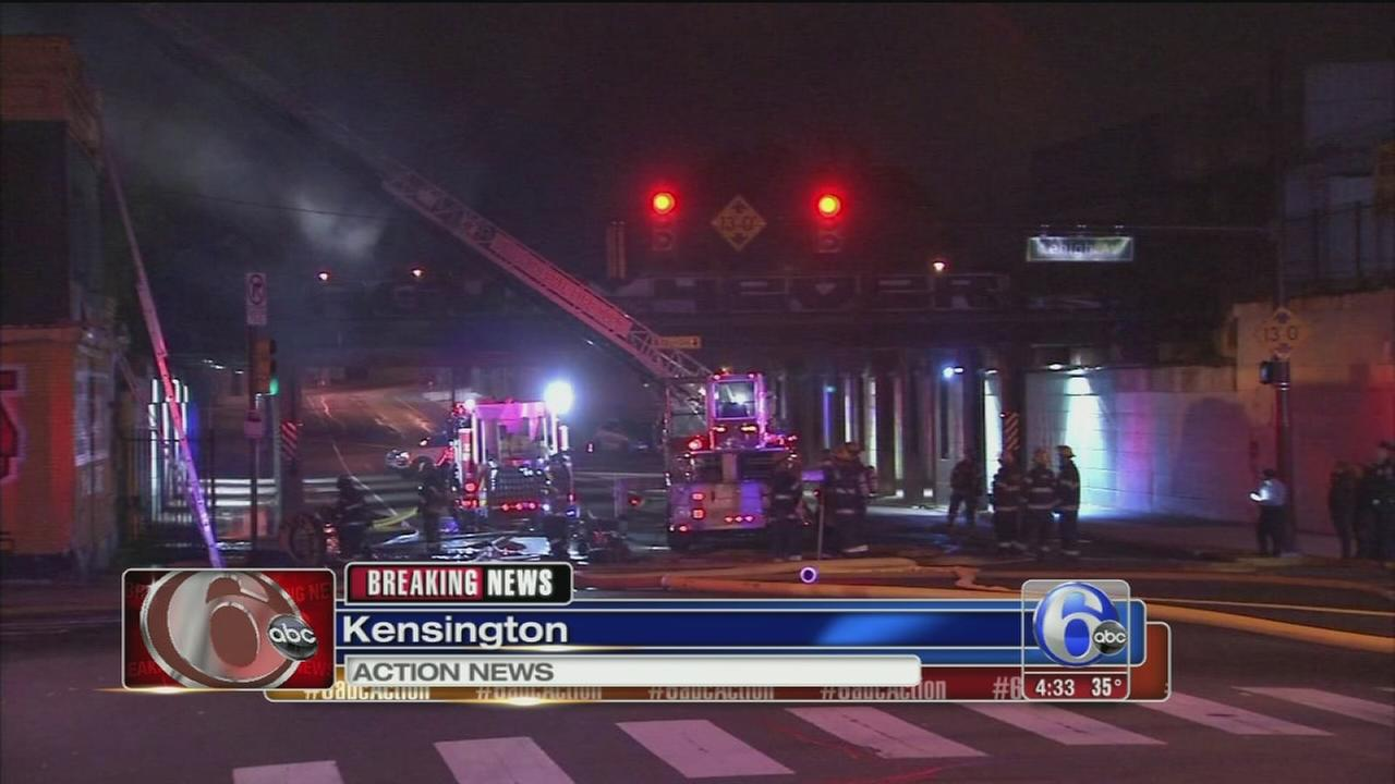 VIDEO: Fire at tire store in Kensington