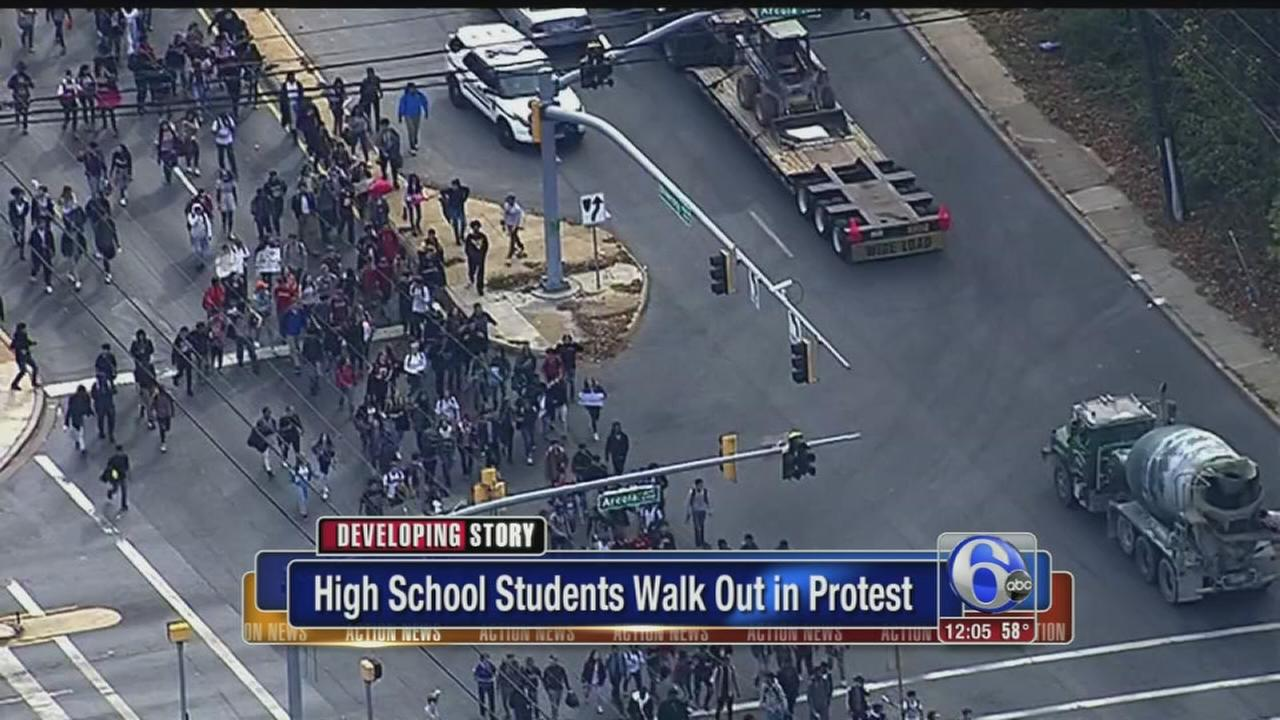 VIDEO: Students walk out in protest of President-elect Trump