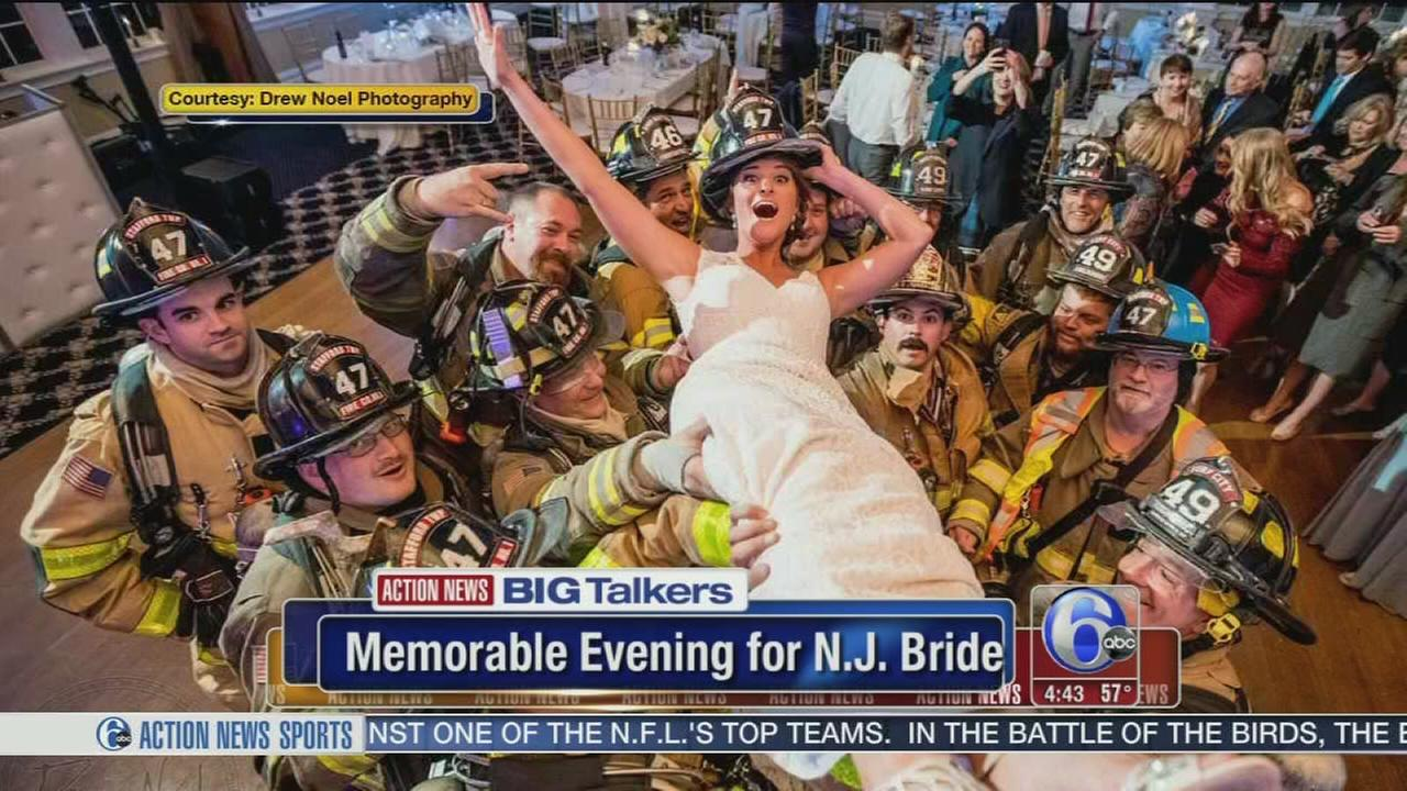 VIDEO: NJ couple makes the most of unexpected wedding evacuation
