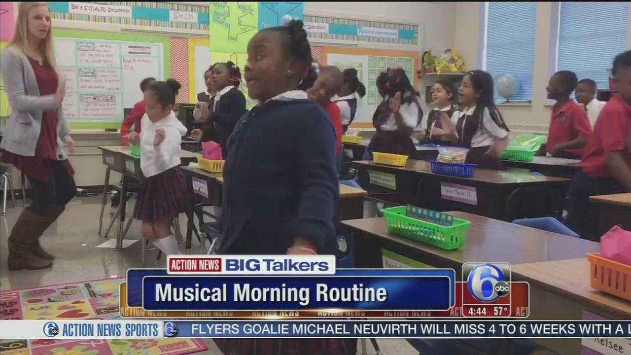 VIDEO: Students have musical morning motivation to Juju on that Beat