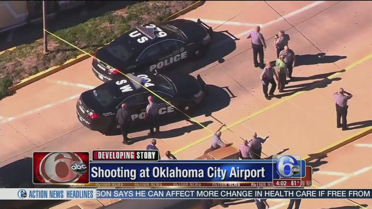 VIDEO: Police: 1 person shot at Oklahoma City airport