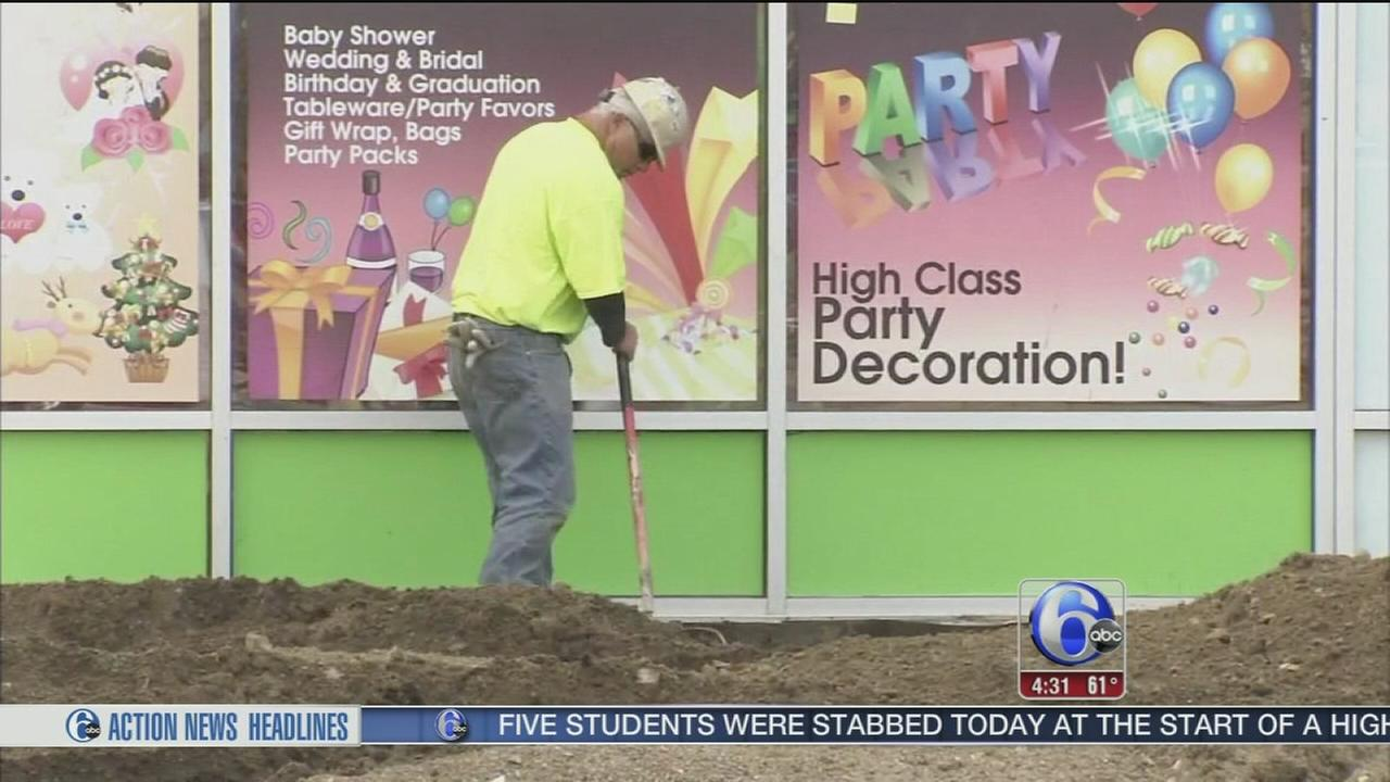 VIDEO: Cleanup continues after flooding at East Falls strip mall