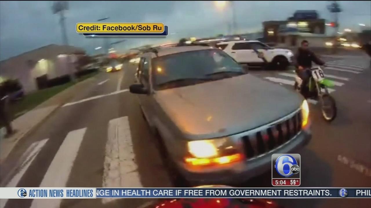 VIDEO: Dirt bike collision