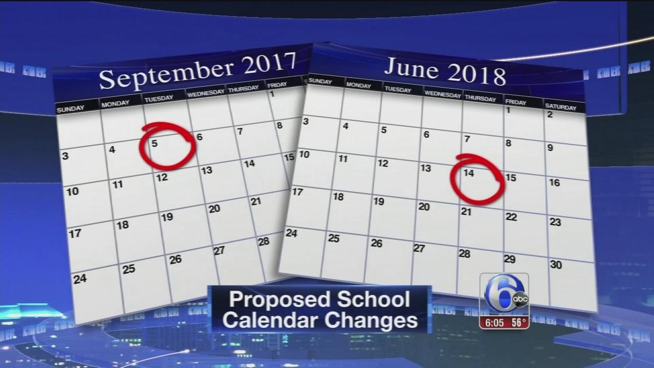 VIDEO: Proposed school calendar changes