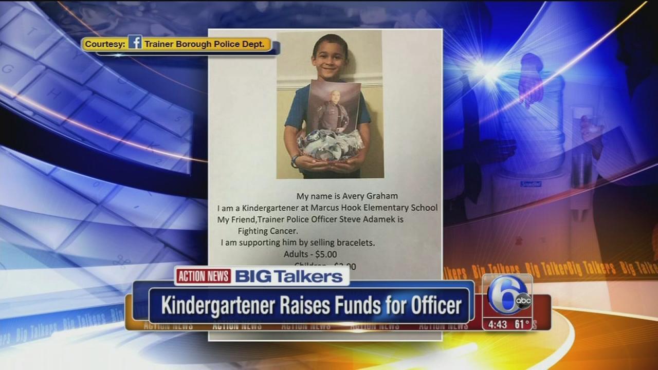 VIDEO: Kindergartener raises funds for officer