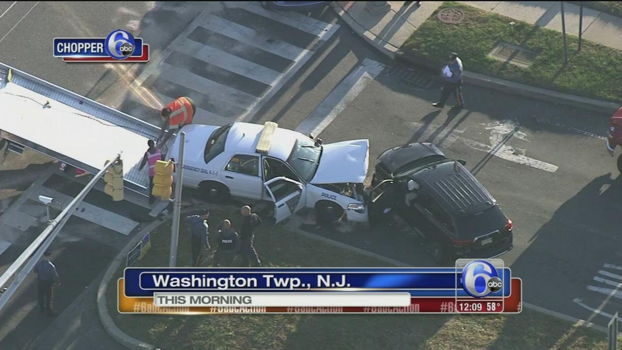 VIDEO: Officer, civilian hurt in crash