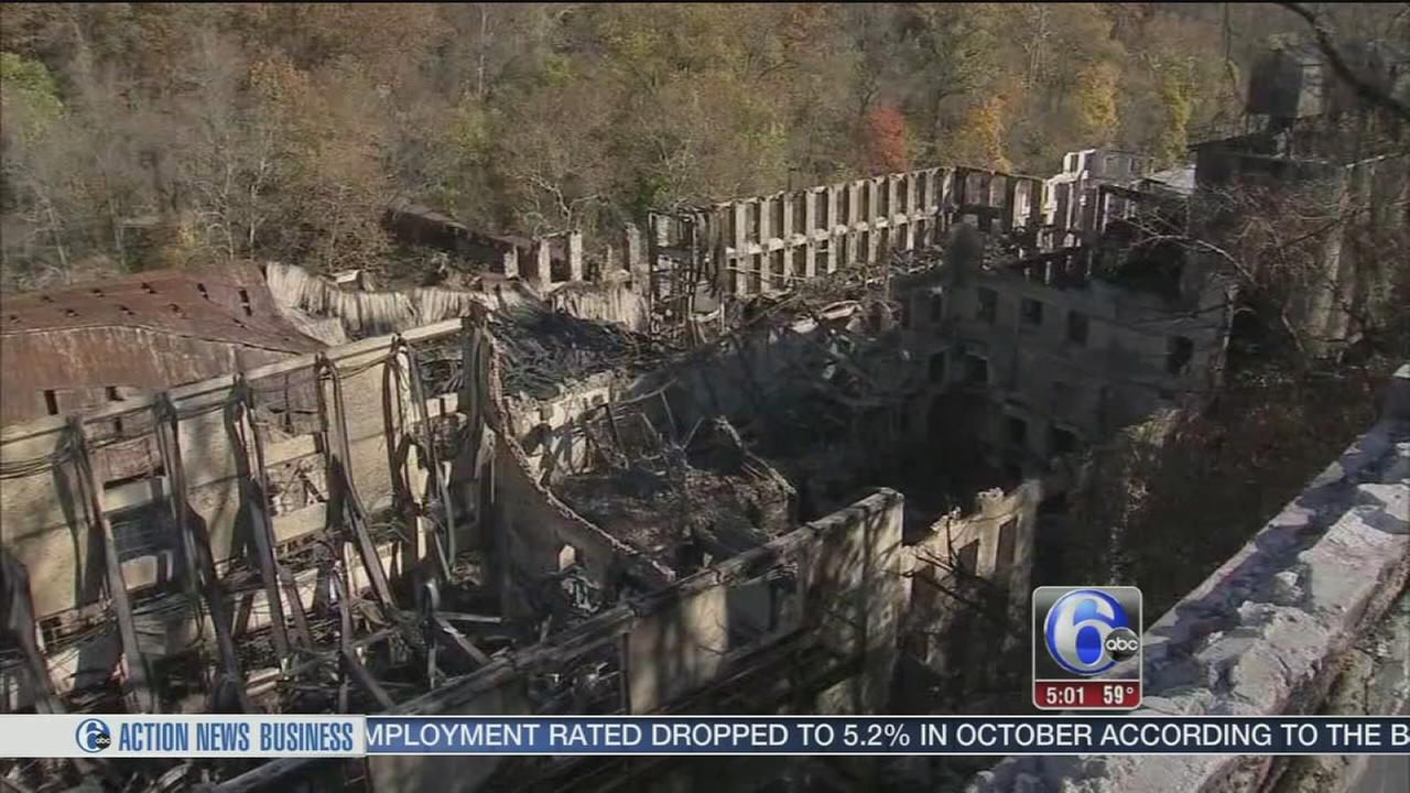 VIDEO: More than a week later, Del. mill fire still burning